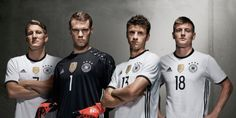 This is the new Germany home jersey the German national team's new home strip for Euro 2016 and other games in the international season. Die Mannschaft's new shirt has … Lionel Messi, Fc Barcelona, Germany Squad, Germany Team, German National Team, World Soccer Shop, Cristiano Ronaldo Real Madrid, Dfb Team, Germany Football