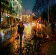 Fotógrafo Usa a Chuva para Captar a Beleza da Chuva