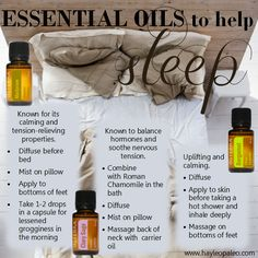 essential oils for sleep - bergamot, clary sage, marjoram Order Oils: www.rooted2thrive.com/doterra Facebook Group: www.facebook.com/groups/rooted2thrive