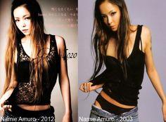 Namie Amuro Left - 20th Anniversary (2012) Right - Come/SO CRAZY Album Cover (2003) 20th Anniversary, Album Covers, Cool Girl, Girls, Tops, Women, Fashion, Little Girls, Moda