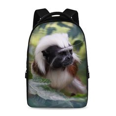 17-inch laptop bag multifunctional backpack school backpack young trend style Male Female Child Monkey Squirrel Cute
