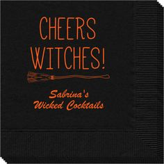 Personalized Cheers Witches Halloween Napkins