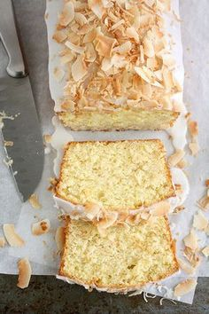Coconut-Buttermilk Pound Cake from Martha Stewart _ As you?d expect from a pound cake, the crumb on this cake is tight Cheap Clean Eating, Clean Eating Snacks, Mimosas, Buttermilk Pound Cake, Brunch, Yummy Chicken Recipes, Pound Cake Recipes, Pound Cakes, Gourmet