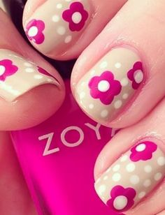 The fuchsia and polka dots create a fun '70s vibe