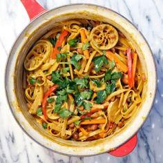 Thai Peanut Pasta - One Dish Meals Recipes - Shape Magazine