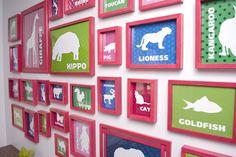 My playroom DIY kid's animal prints with Free Printables!