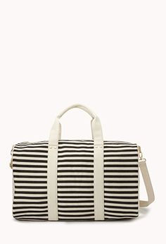 Classic Striped Weekender Bag   FOREVER 21 - 1000075453