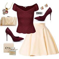 krémová A-čková sukňa