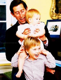 Prince Charles with William and Harry