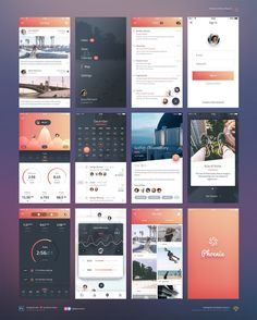 This is our daily iOS app design inspiration article for our loyal readers. Every day we are showcasing a iOS app design whether live on app stores or only designed as concept. Ios App Design, Mobile Ui Design, Logo Design, Interface Design, Design Design, Flat Design, Dashboard Design, Icon Design, User Interface