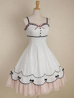 Mary Magdalene / Jumper Skirt / Polkadot Chiffon OP - Hello there, cutest dress ever!