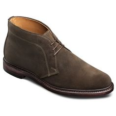 Allen Edmond's line of made in USA boots offer variety of styles include a wingtip dress boot, chukka boot in suede or leather, and the lace-up oxford dress boot. Find dress boots and casual boots to wear with suits, denim, and chinos.
