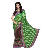 khushali-women-s-green-and-coffee-georgette-saree-with-foil-jacquard-pallu-and-unstitched-blouse-piece