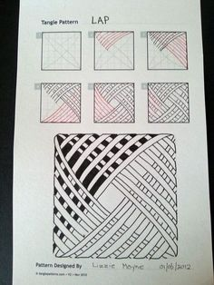 Patrones básicos de Zentangle, paso a paso 3 Zentangle basis patronen, stap voor stap 3 Patrones básicos de Zentangle, paso a paso 3 Doodles Zentangles, Tangle Doodle, Zentangle Drawings, Zentangle Patterns, Doodle Drawings, Doodle Art, Zen Doodle Patterns, Patterns To Draw, Doodle Borders