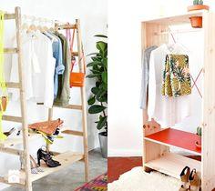Pomysłowy wieszak na ubrania w pokoju. - zdjęcie od cleo-inspire