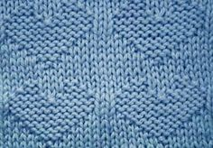 Every Saturday I will share with you a new stitch. Today's stitch is: Reversible Hearts. right side Very easy to knit stockinette hea...