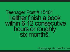 bc if it's 6 months it's a BORING BOOK