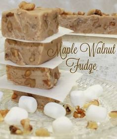 Maple Walnut Fudge Recipe | Intelligent Domestications Maple Walnut Fudge Recipe, Maple Fudge Recipes, Maple Candy Recipe, Candy Recipes, Cookie Recipes, Dessert Recipes, Delicious Desserts, Bar Recipes, Delicious Dishes