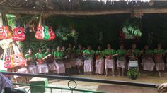 the performance by the lake. loboc river cruise at bohol