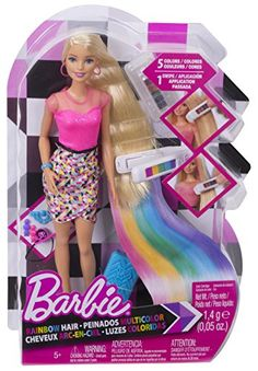 Check out the Barbie Rainbow Hair Doll at the official Barbie website. Explore the world of Barbie today! Mattel Barbie, Barbie Box, Barbie Doll Set, Barbie Sets, Doll Clothes Barbie, Doll Toys, Baby Girl Toys, Toys For Girls, Kids Toys
