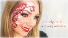 Sweet Candy Cane Face Painting and Makeup Sweet Candy Cane Face Painting and Mak… – Candy Cane Face Painting Tutorials, Face Painting Designs, Body Painting, Paint Designs, Crazy Makeup, Love Makeup, Beauty Makeup, Beauty Dupes, Elf Makeup Dupes