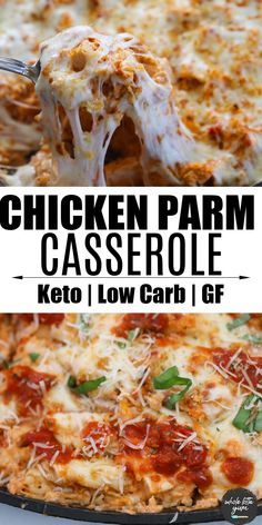 Gluten Free Recipes For Dinner, Supper Recipes, Keto Recipes, Healthy Recipes, Healthy Foods, Chicken Parmesan Recipes, Easy Chicken Recipes, Healthy Casserole Recipes, Low Carb Chicken Casserole