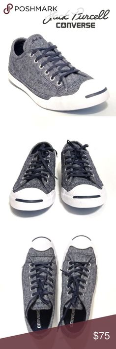 e5fb0864494a4d Jack Purcell Canvas JP LP LS OX NIB New in no lid box Jack Purcell Converse  JP LP LS OC inked white navy blue canvas lace up unisex sneakers.