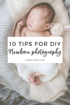 Tips and tricks for doing a newborn photoshoot at home. Save money and take baby's first photos yourself!