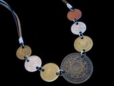 Coin Jewelry  7 World Coin Necklace Old Coins by SequoiasRoots, $50.00