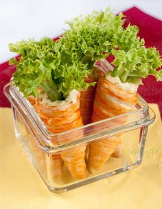 Carrot snack for Spring Equinox Yummy Appetizers, Appetizer Recipes, Easter Dishes, Easter Food, Food Set Up, How To Eat Better, Brunch Party, Vegan Snacks, What To Cook