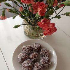 Raw chokladbollar utan nötter