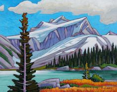 "Facing the 'West Peak.'  Can you guess which one?  ""West Peak"" 16"" x 20"" Acrylic on Canvas by Nicholas Bott"