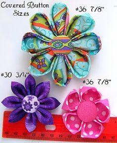 Crafty Mommy Kanzashi Fabric Flower Tutorial