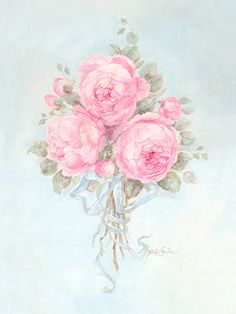 Belle Rose Bouquet - Debi Coules Romantic Art