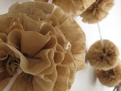 coffee filter garlands except done with white filters