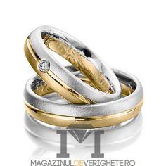 Verighete aur culori combinate de 3mm MDV5059 #verighete #verighete3mm #verigheteaur #verigheteauraplicatie #magazinuldeverighete Gold Wedding Rings, Gold Rings, Rustic Wedding, Rose Gold, Engagement Rings, Jewelry, Model, Ideas, Wedding Band Ring