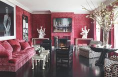 A Dozen Red Rooms on The Study: The @1stdibs Blog   http://www.1stdibs.com/blogs/the-study/12-red-rooms/