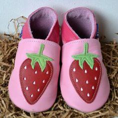 GORGEOUS LEATHER BABY SHOES - Raspberry Kisses @GurgleBox