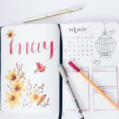 11 Bullet Journal Layouts That Are Perfect For May - Meraadi
