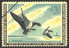 1963 Duck Stamp Brant