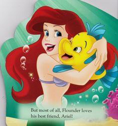 Flounder loves his friend, Ariel. Disney Nerd, Disney Girls, Disney Love, Disney Pixar, Mermaid Disney, Ariel The Little Mermaid, Disney Fantasy, Disney Songs, Walt Disney Pictures
