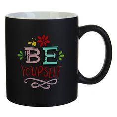 """16-oz. """"Be Yourself"""" Mug, Black"""