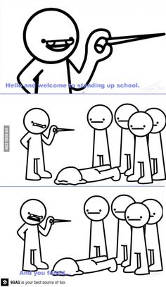 TomSka- asdf movie 6- Standing up school