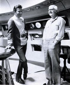 William Shatner and Robert Wise on the set of Star Trek: The Motion Picture