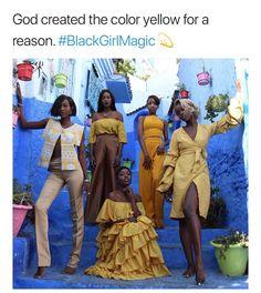 ✨black girls look great in yellow