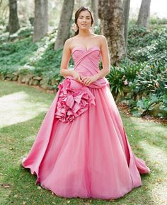 Hot pink Wedding Dress - The Wedding Dress Color Decision,Which Wedding Dress Colours Are Right for You? | itakeyou.co.uk #weddingdress #weddinggown #wedding