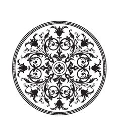 One time vinyl stencils. Medallion Stencils - High quality, affordable and easy to use, wall and floor stencil designs Stencil Patterns, Stencil Designs, Stencils, Stencil Art, Decorative Lines, Stencil Printing, Persian Pattern, Stenciled Floor, Estilo Retro