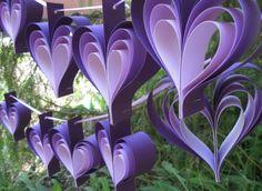 Home made Purple Heart bunting