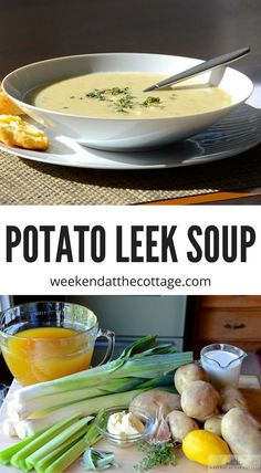 POTATO AND LEEK SOUP ranks right up there as one of my favourite soups. It's easy-to-make, vegetarian and loaded with flavour. Russet potatoes and sautéed leeks with a rich lemon cream. #soup #potatoleeksoup #lunchrecipes #vegetariansouprecipe