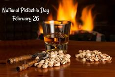 February 26 is celebrated each year as National Pistachio Day. Time to get some fun facts, and recips to honor this snack filled day. Days Of The Year, Months In A Year, National Days In February, Pistachio Tree, Snack Recipes, Snacks, Chocolate Dipped, Favorite Holiday, Some Fun